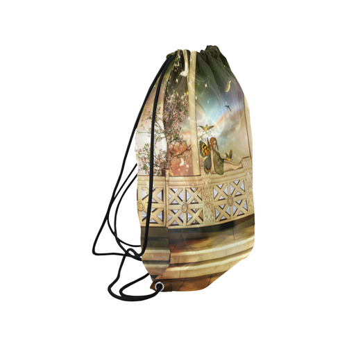 """The cute little fairy in the sunset Medium Drawstring Bag Model 1604 (Twin Sides) 13.8""""(W) * 18.1""""(H)"""