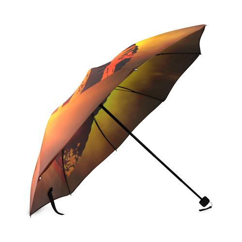 Chinese Fan - Tiger Foldable Umbrella (Model U01)