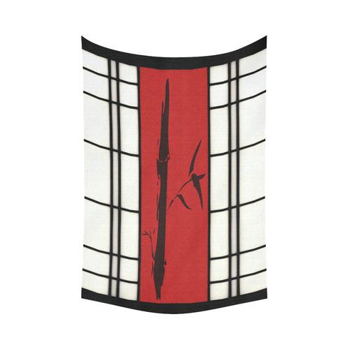 "Shoji - Bamboo Cotton Linen Wall Tapestry 90""x 60"""
