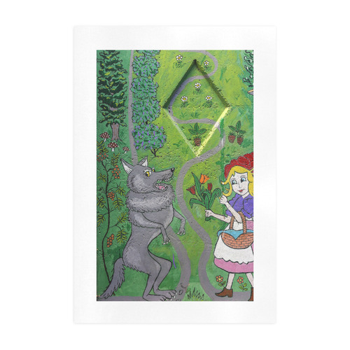 Girl and Wolf Art Print 19''x28''