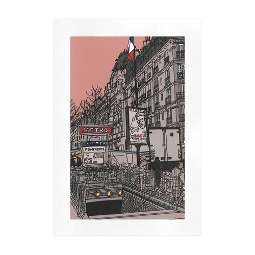 Street in Paris Art Print 19''x28''