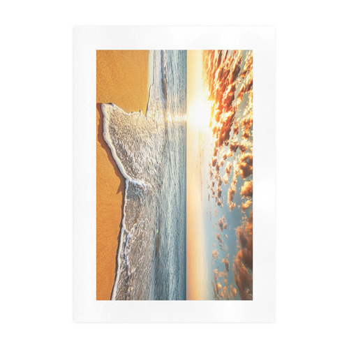 Brilliant Ocean Beach Sunrise Art Print 19''x28''