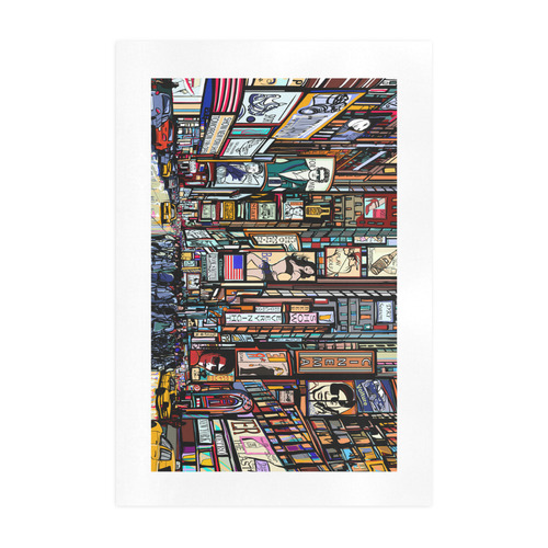 Street in New York city Art Print 19''x28''