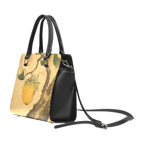 Hokusai Grasshopper Eating Persimmon Nature Classic Shoulder Handbag (Model 1653)