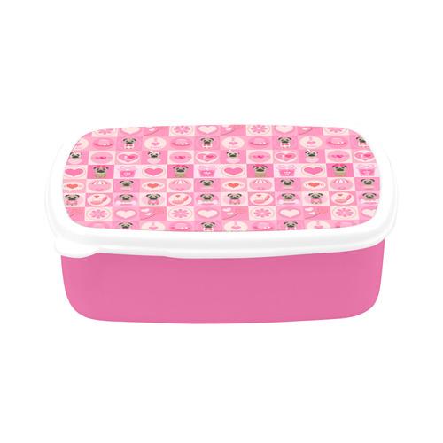 Light Pink Valentine Pugs Children's Lunch Box