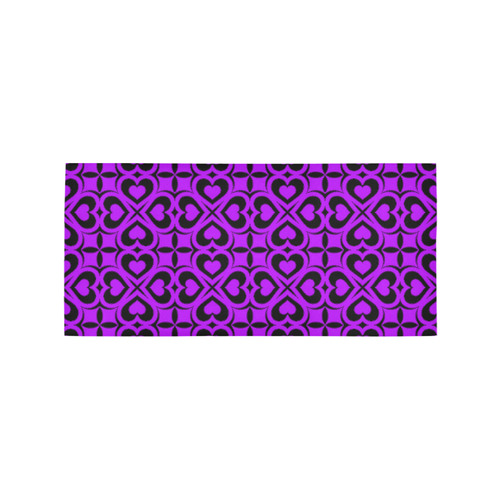 Purple Black Heart Lattice Area Rug 7 X3 3 Id D1193574