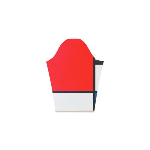 Mondrian Composition Red Blue Yellow 3/4 Sleeve Sundress (D23)