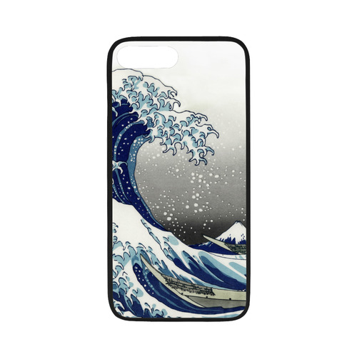 "Great Waves at Kanagawa by Hokusai Rubber Case for iPhone 7 plus (5.5"")"