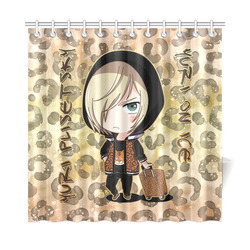 Yuri On Ice Leopard Shower Curtain
