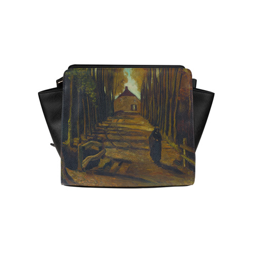 Van Gogh Poplars In Autumn Landscape Satchel Bag (Model 1635)
