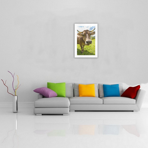 Photography Pretty Blond Cow On Grass Art Print 19''x28''