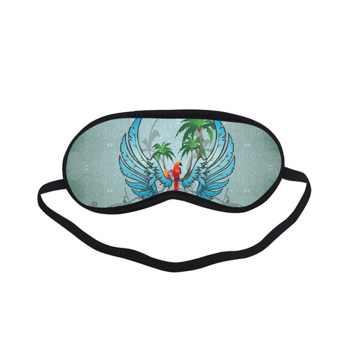 cute parrot with wings and palm Sleeping Mask