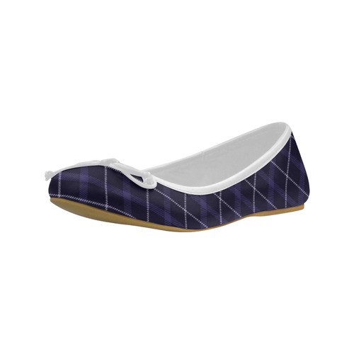 royal blue plaid tartan Juno Ballet Pumps (Model 312)