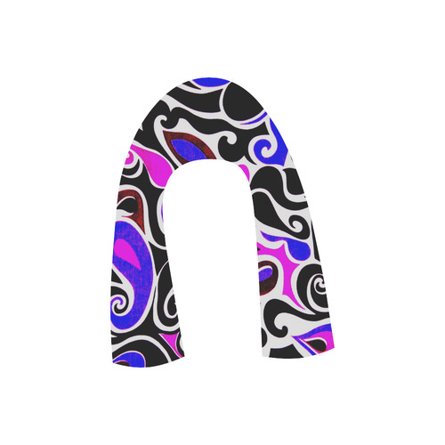 retro swirl abstract Juno Ballet Pumps (Model 312)