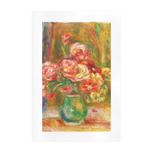 Pierre-Auguste Renoir Vase of Roses Art Print 19''x28''