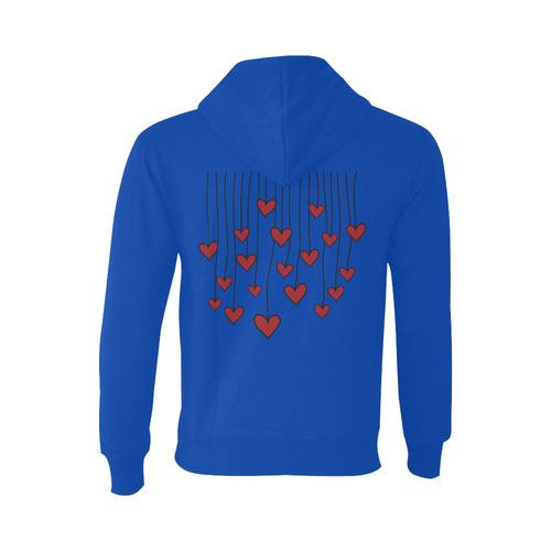 Waving Love Heart Garland Curtain Oceanus Hoodie Sweatshirt (NEW) (Model H03)