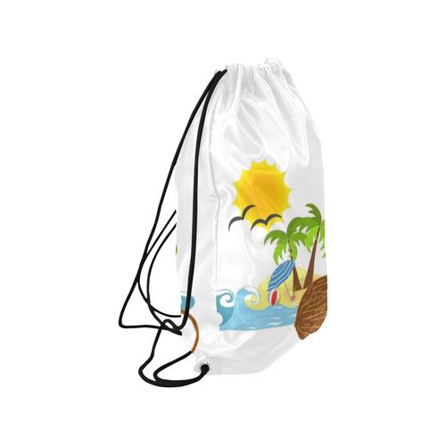 """Beach Fun Medium Drawstring Bag Model 1604 (Twin Sides) 13.8""""(W) * 18.1""""(H)"""