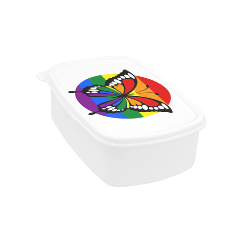 Dot Rainbow Flag Stripes Butterfly Silhouette Children's Lunch Box