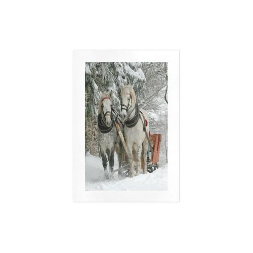 Wintertime Sleigh Ride Art Print 7''x10''