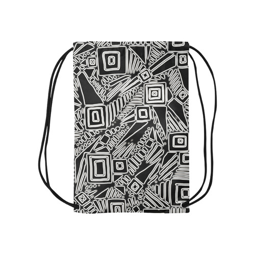 "Optical Illusion, Black and White Art Small Drawstring Bag Model 1604 (Twin Sides) 11""(W) * 17.7""(H)"