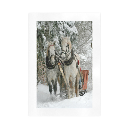 Wintertime Sleigh Ride Art Print 16''x23''
