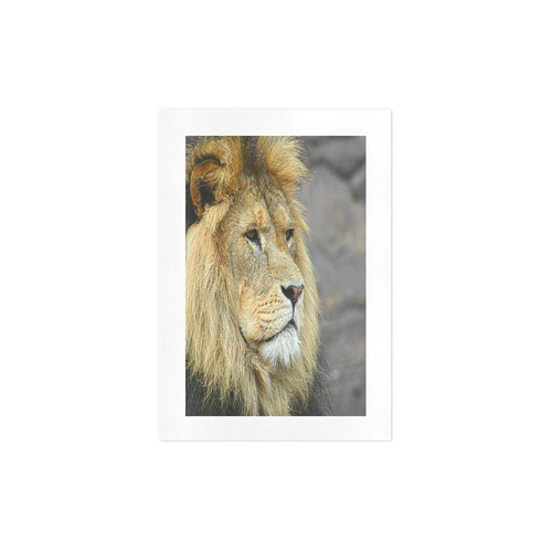 Majestic Lion Art Print 7''x10''