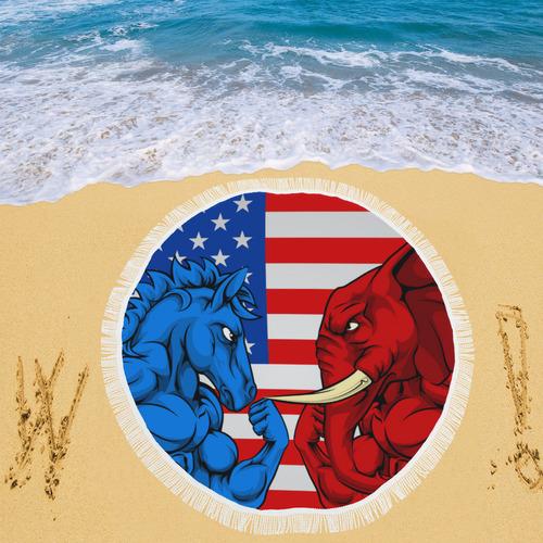 """Elephant Circular Beach Shawl 59""""x 59"""""""
