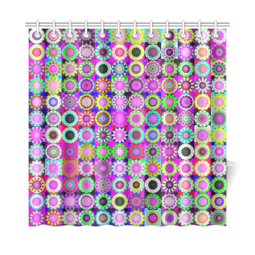 Crazy Daisy Quilt Pattern Shower Curtain 72x72