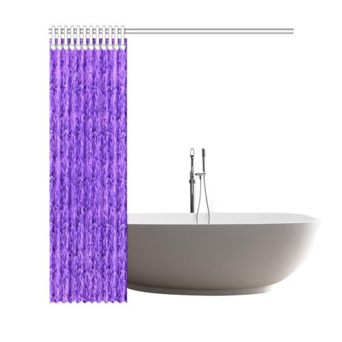 "Vintage Floral Lace Leaf Amethyst Purple Shower Curtain 69""x72"""