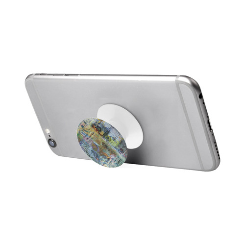 Old Newspaper Colorful Painting Splashes Air Smart Phone Holder
