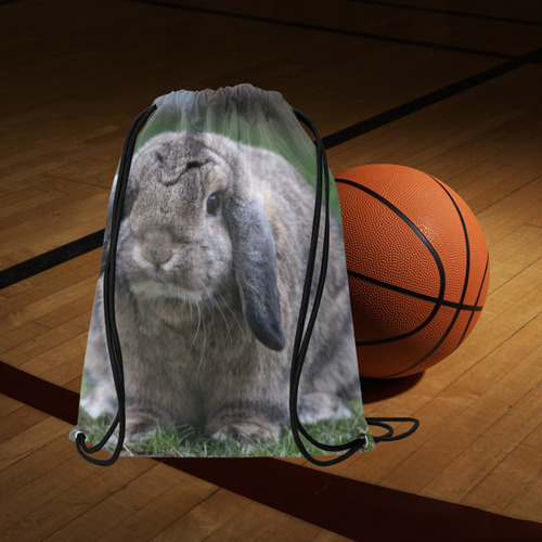 """bunny by JamColors Medium Drawstring Bag Model 1604 (Twin Sides) 13.8""""(W) * 18.1""""(H)"""