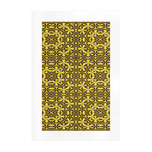 Golden Metallics Lights Kaleidoscope Mandala 4 Art Print 19''x28''