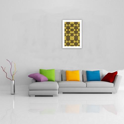 Golden Metallics Lights Kaleidoscope Mandala 5 Art Print 19''x28''