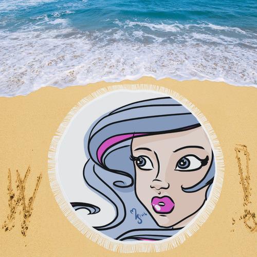 "Celestiine Circular Beach Shawl 59""x 59"""