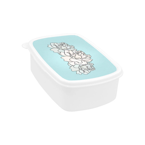 Powder Blue Roses Children's Lunch Box