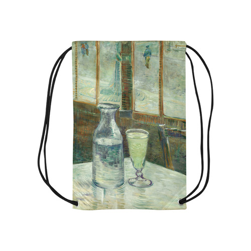 """Van Gogh Cafe Table with Absinthe Small Drawstring Bag Model 1604 (Twin Sides) 11""""(W) * 17.7""""(H)"""