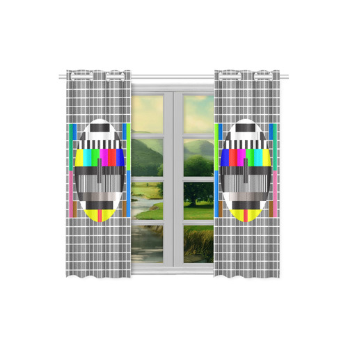 """test tv screen Kitchen Curtain 26"""" X 39"""" (Two Piece)"""