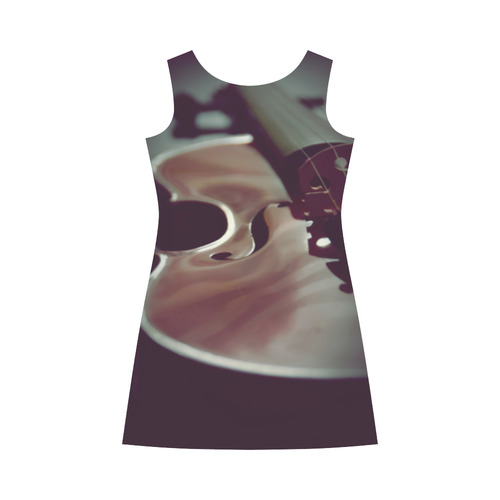 VIOLIN © Pimpinella Art Bateau A-Line Skirt (D21)