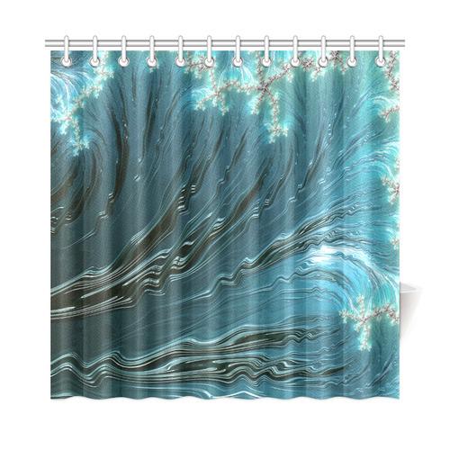 Big Wave Fine Fractal Waves Ocean Shower Curtain