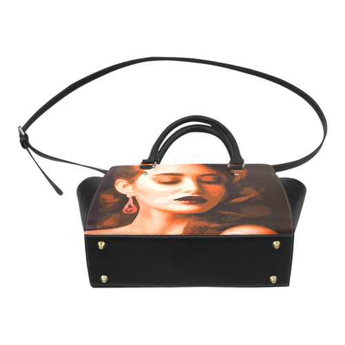 Beautiful Woman Portrait Classic Shoulder Handbag (Model 1653)