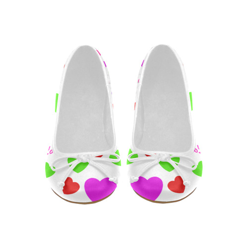 Love And Hearts Juno Ballet Pumps (Model 312)