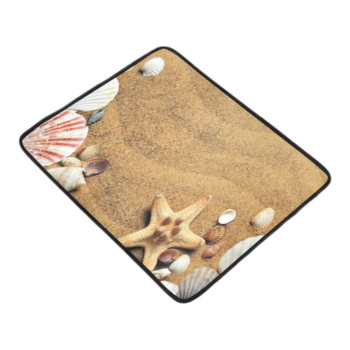"Seashells Beach Mat 78""x 60"""