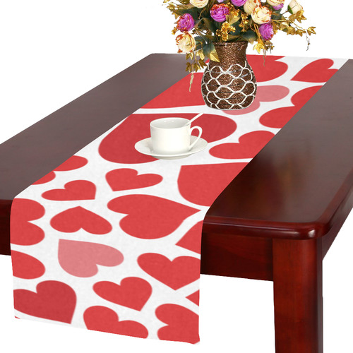 love hearts Table Runner 16x72 inch