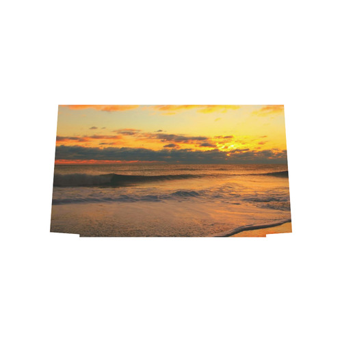 Stunning sunset on the beach Euramerican Tote Bag/Large (Model 1656)