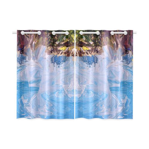 """SPLASH 4 Kitchen Curtain 26"""" X 39"""" (Two Piece)"""