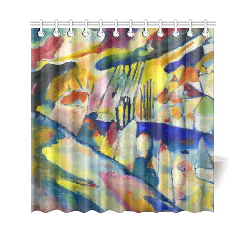 Kandinsky Landscape With Rain Shower Curtain