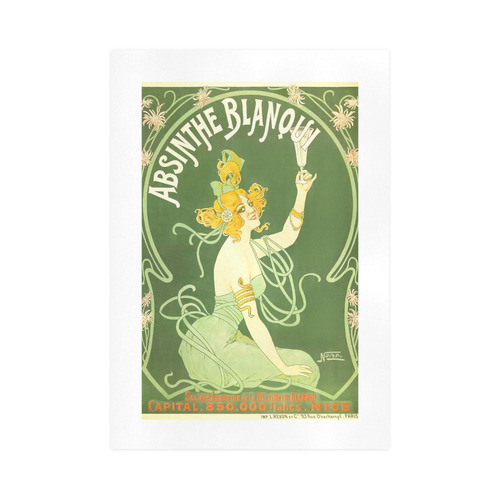 Absinthe Blanqui Beautiful Green Fairy Art Print 16 X23 Id D1254566