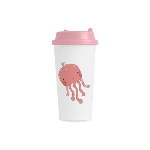 Sea Creatures Double Wall Plastic Mug