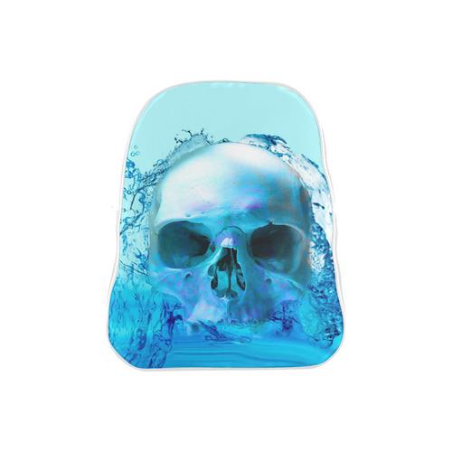 Skull in Water School Backpack (Model 1601)(Medium)