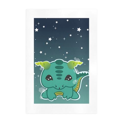 Kawaii Baby Dragon Art Print 19''x28''
